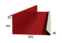 Планка примыкания нижняя 250-122-2000 RAL 3005