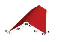 Планка конька плоского 150х150х2000 (ПЭ-17-8017-ОН)
