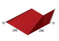 Планка ендовы нижняя 298-298-2000  RAL 3005