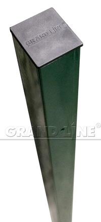 Столб 62х55х2500мм зеленый RAL 6005,4 отверстия