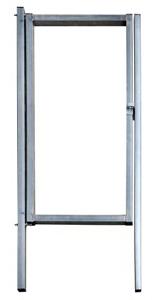 Калитка эконом 2,0х1м серое стекло RAL 7040