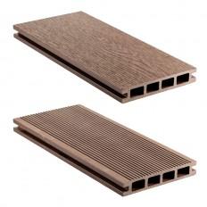 Террасная доска ДПК (пустотелая) 2200 х 135 х 25 мм (0,297 м2), WENGE ( коричневый) Natur