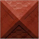 """Колпак ППК 535х535х43 Красный на столб заборный 2 кирпича """"Гибкая черепица"""""""