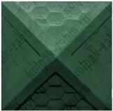 """Колпак ППК 535х535х43 Зеленый на столб заборный 2 кирпича """"Гибкая черепица"""""""