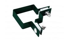 Крепление хомут угловой 62х55 зеленый RAL 6005