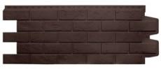 Фасадные панели Grand Line состаренный кирпич стандарт коричневая