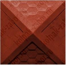 """Колпак ППК 385х385х43 Красный на столб заборный 1,5 кирпича """"Гибкая черепица"""""""