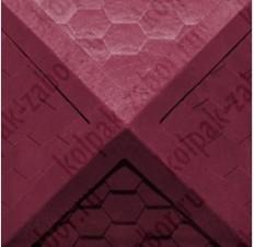 "Колпак ППК 385х385х43 Вишневый на столб заборный 1,5 кирпича ""Гибкая черепица"""