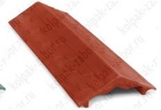 "Парапет ППК 500х125х25 Красный на забор 0,5 кирпича ""Гибкая черепица"""