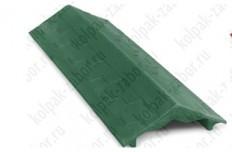 "Парапет ППК 500х125х25 Зеленый на забор 0,5 кирпича ""Гибкая черепица"""