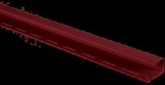 "Планка ""J - trim"" Красная Т-15 - 3,00м"
